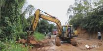 快速抢通水毁公路,玉柴挖掘机再立新功