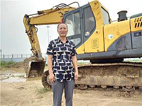 玉柴用户张贵中和他的玉柴YC230LC-8挖掘机
