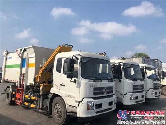 千万大单!徐工吊装式垃圾车助力中部城市建设!