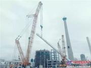 徐工集团第二台四千吨级履带起重机舟山小试牛刀,签约后首次亮相!