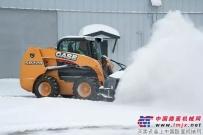 冬季除雪必备神器——凯斯S系滑移装载机
