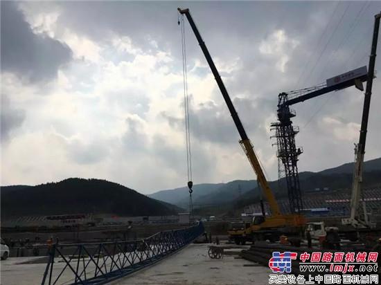 大展身手,柳工TC750C5绽放冬奥会场馆