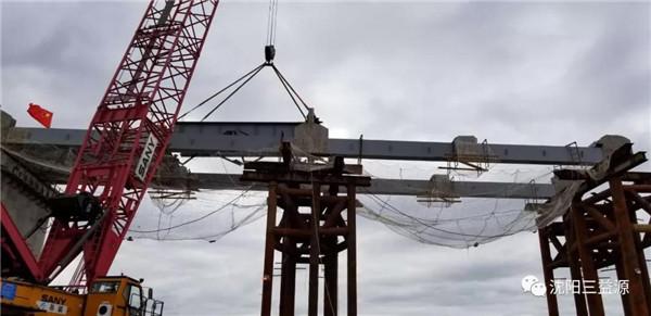 """投身""""一带一路"""",三一履带起重机助力中俄铁路桥梁施工"""