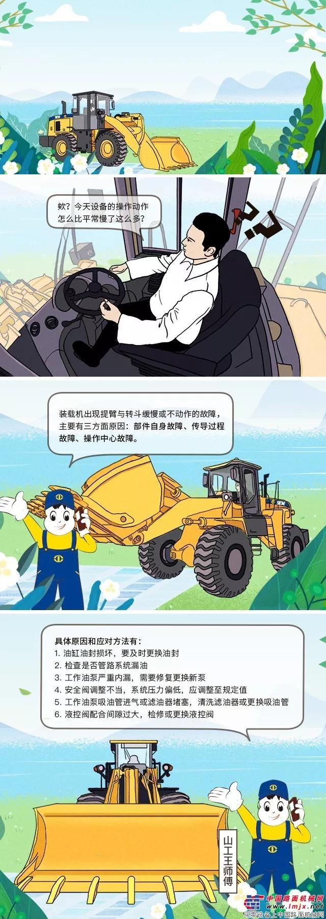 山工王师傅小贴士︱装载机提臂与转斗缓慢或不动作怎么办?