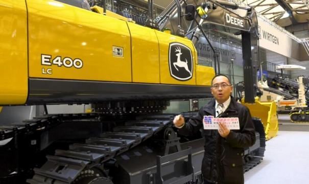 【上海宝马展 绕机讲解】约翰迪尔区域销售经理高志勇介绍E400LC挖掘机