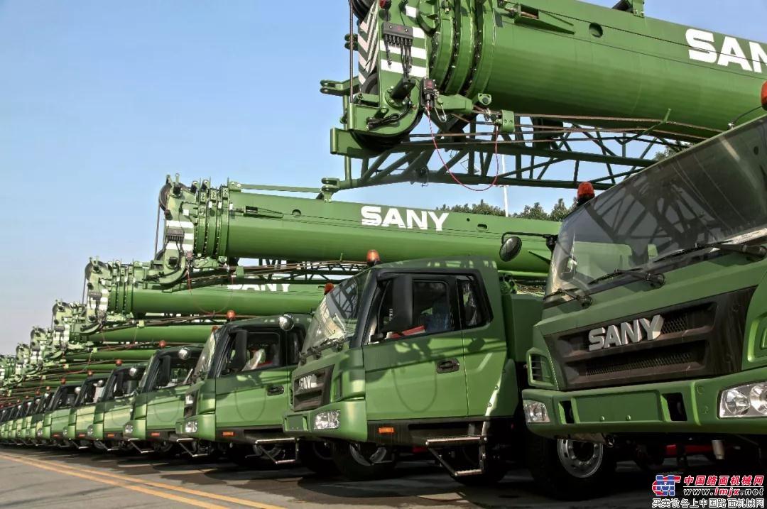 一大波国防绿出现,三一起重机受中外军方青睐