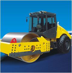 单钢轮压路机图片