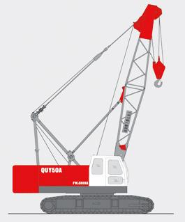 抚挖QUY50A 液压履带式起重机履带起重机