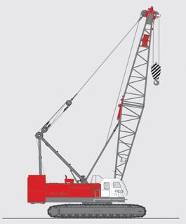 抚挖QUY100A 液压履带式起重机履带起重机高清图 - 外观