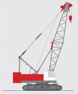 抚挖QUY90 液压履带式起重机履带起重机高清图 - 外观