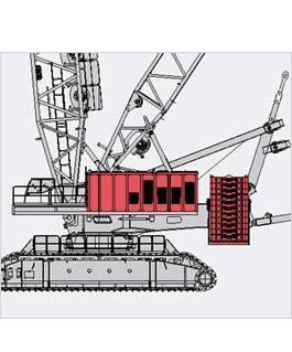 抚挖QUY1250 液压履带式起重机