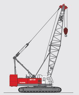 抚挖QUY120 液压履带式起重机履带起重机高清图 - 外观