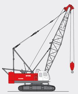 抚挖QUY80A 液压履带式起重机履带起重机高清图 - 外观