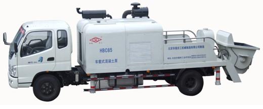 华强京工HBC85车载式混凝土输送泵高清图 - 外观