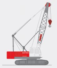 抚挖QUY50C 液压履带式起重机履带起重机高清图 - 外观