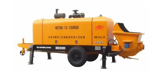 华强京工HBT80.13.130RSB拖式柴油混凝土输送泵高清图 - 外观