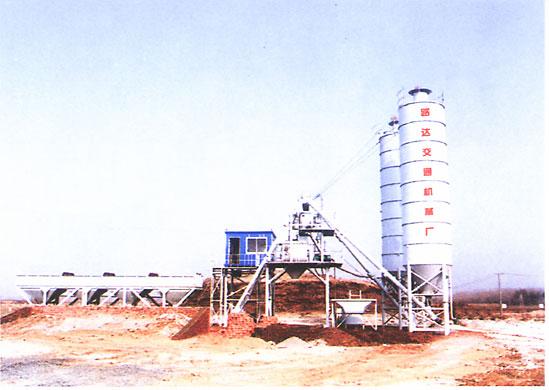 路达HBS60-180型强制式水泥混凝土拌和站高清图 - 外观
