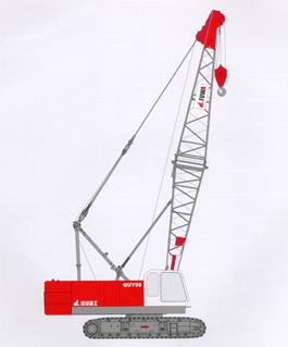 抚挖QUY55 液压履带式起重机履带起重机