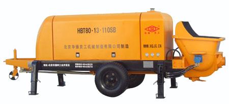 华强京工HBT80-13-110SB拖式电动混凝土输送泵高清图 - 外观