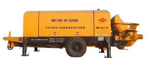 华强京工HBT100.24.220SD高铁制梁专用混凝土输送泵