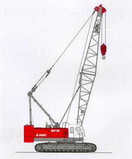 抚挖QUY70A 液压履带式起重机履带起重机高清图 - 外观