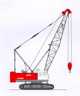 撫挖QUY80B 液壓履帶式起重機履帶起重機