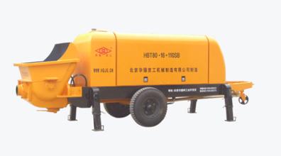 华强京工HBT80.16.110SB拖式电动混凝土输送泵高清图 - 外观