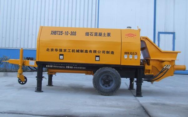 华强京工XHBT25.10.30S细石混凝土泵高清图 - 外观