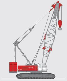 抚挖QUY150C 液压履带式起重机履带起重机高清图 - 外观