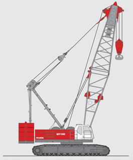 抚挖QUY150C 液压履带式起重机履带起重机
