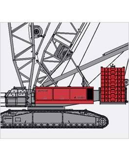 撫挖QUY650 液壓履帶式起重機