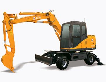 山重建机808C轮式挖掘机