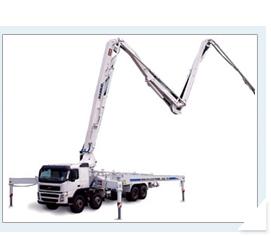 海诺42m臂架式混凝土泵车高清图 - 外观