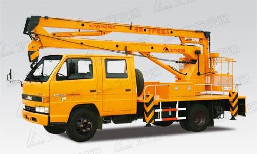 北方交通14米折臂式江铃高空作业车高清图 - 外观