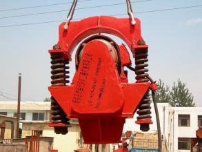 海天路矿CFG钻机沉钢筋笼用震动锤高清图 - 外观