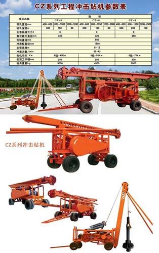 海天路矿CZ系列冲击钻机高清图 - 外观