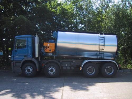 林泰阁卧式浇注式沥青混凝土搅拌保温运输车