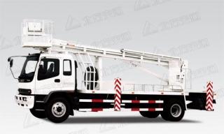 北方交通28米直臂式庆铃高空作业车
