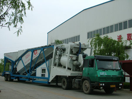 新型YHZS50拖挂式移动搅拌站