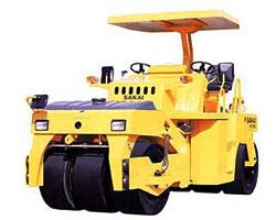 酒井GW750轮胎式压路机高清图 - 外观