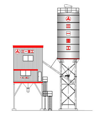 三一重工HZS150混凝土搅拌站