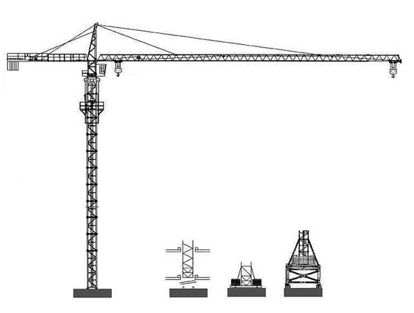 克瑞QTZ5010塔头系列塔式起重机高清图 - 外观