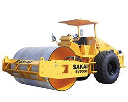 酒井SV700D单钢轮压路机高清图 - 外观