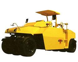 酒井T2轮胎式压路机高清图 - 外观
