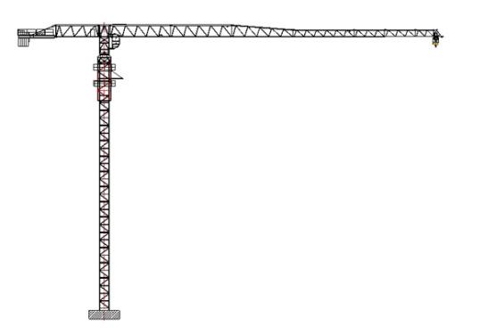 克瑞PT80(5013)平头←系列塔式起重机