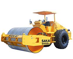 酒井SV512D-H,-E单钢轮压路机高清图 - 外观