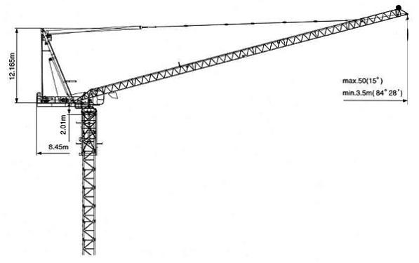 克瑞D160动臂系列塔式�I起重机