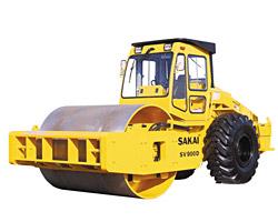 酒井SV900D单钢轮压路机高清图 - 外观