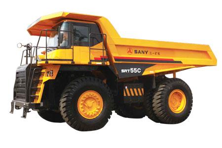 三一重工SRT55C矿用汽车高清图 - 外观