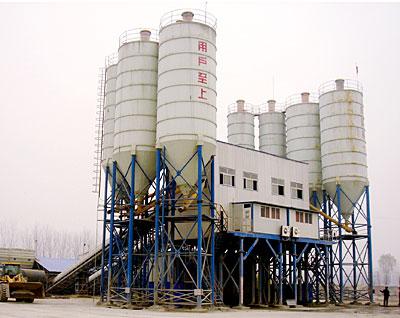 陆德HZS150水泥混凝土搅拌站高清图 - 外观
